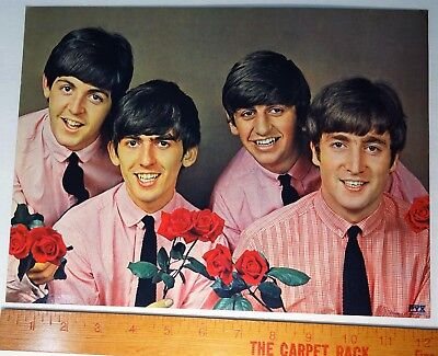 RARE Early - Orig - The Beatles w Roses 1963 Photo by Ehrnvall 9 x 12 Print PYX