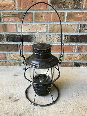 Vintage N&W Railroad Lantern Tall Marked Globe #2