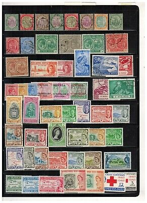 Lot of St.Kitts & Nevis Old Stamps MH/MNH/Used
