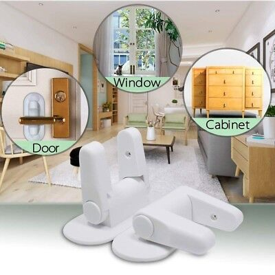 Door Lever Lock Children Toddler Proof Safety Doors Handles 3M Adhesive 4 Pack