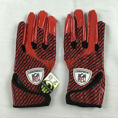 NEW Reebok - Red/Black NFL Receiver Gloves (XL)