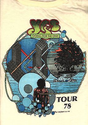 Yes 1978 Going For The One U.s. Tour Vintage Large Concert Tee T Shirt