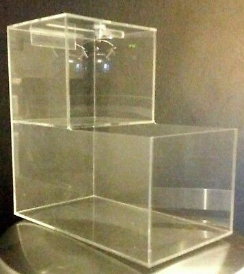 5 New Locking Acrylic Honor Candy Selling Donation Box. Route Vending Business!