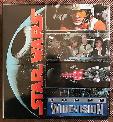 1995 STAR WARS IV WIDEVISION Album with three full card sets in pages(408 cards)