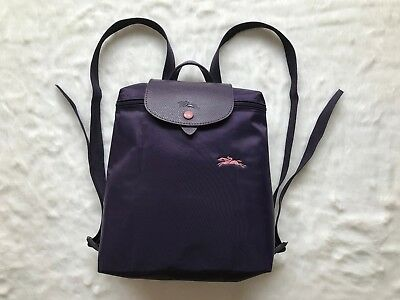 63dfbecc6dc4 LONGCHAMP LE PLIAGE Club Collection Horse Embroidery Backpack Bag Bilberry  -  135.00