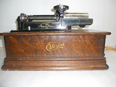 Antique Thomas Edison Portable Phonograph Combination Type Model E
