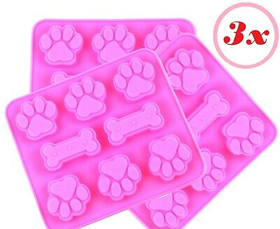 1PC Silicone Mold Pet Paw with Bone Print Treat Dog Candy Chocolate Soap Mould Q