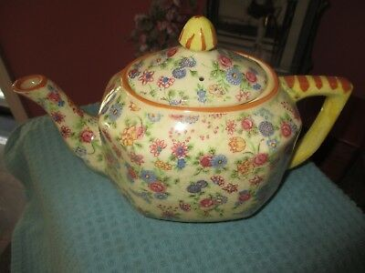 Crackle chintz design teapot/Made in Japan.