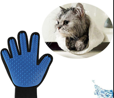 Pet Grooming Glove Brush Fur Remover Brush Bath Deshedding For Dog Cat Right
