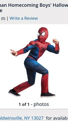 New Marvel Spider-Man Homecoming Boys Costume Dress Up Size S