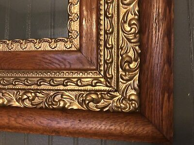 """Fabulous Antique Oak Frame On Frame For Oil Painting Or Print Or Mirror 30""""x26"""""""