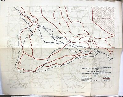 Map to Illustrate the Offensive of the St. Mihiel Salient 1918 by 29th Engineers