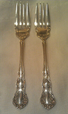 """Wallace Sterling Silver Salad Fork Lot Irving ~ 1899 ~ 6 1/4"""" ~ 64.60g"""