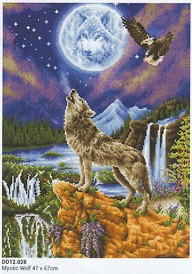Diamond Dotz 5D Embroidery Facet Art Kit, MYSTIC WOLF, Round Dots, Boxed Kit