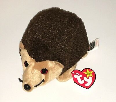 Ty Beanie Baby Prickles the Brown Hedgehog 1999 NEW Plush Babies Toy Retired NWT