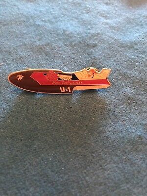 Rare Miss Budweiser Tack  Unlimited Hydroplane Pin button Seattle Seafair