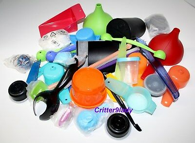 NEW Tupperware Lot Pile Gadgets Keychains Magnets and Smidgets