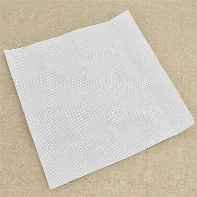 White 14ct Cross Stitch DIY Fabric Canvas Material for Embroidery 25cmx25cm