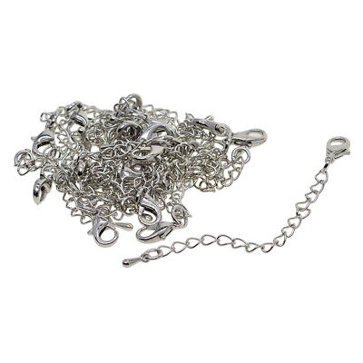 20pcs Silver Bracelet Necklace Chain Extender Lobster Clasp Jewelry Findings