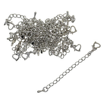 20 Sets Safety Chain/Extender + Clasps For Necklace/Bracelet Jewelry Making