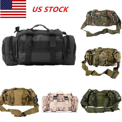 10L Outdoor Military Tactical Camping Hiking Trekking Backpack Shoulder Belt Bag