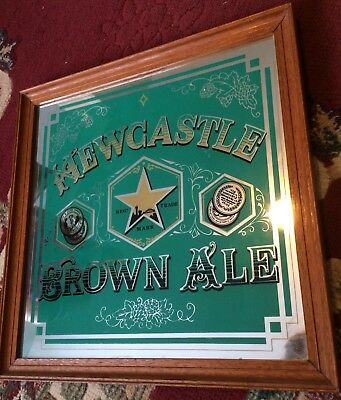 Newcastle Brown Ale Framed Mirror Collectable