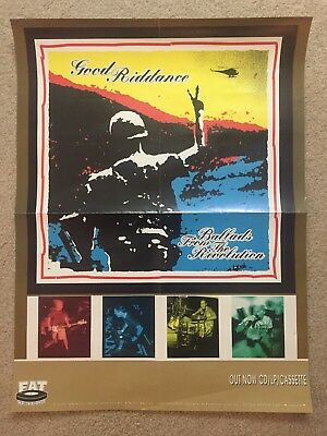 GOOD RIDDANCE - 1990's 18x24 Promo Poster FAT Wreck Chords Records PUNK