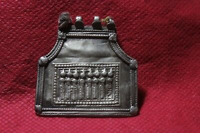 Old Tribal South Indian Goddess Silver With Gold Plated Amulet Pendant SC 02