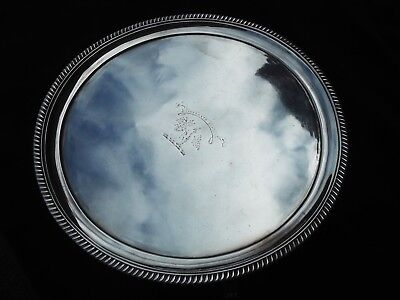 1809 fine Georgian salver, Clan Crest for Watson, interesting naval engraving