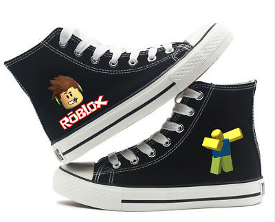 Game Roblox Dab Noob Print Canvas Shoes Boys Girls teenagers Leisure Shoes