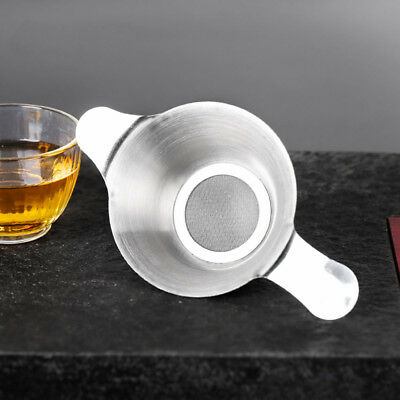 Kitchen Kungfu Teaware Stainless Steel Tea Strainer Fine Mesh Funnel Filter