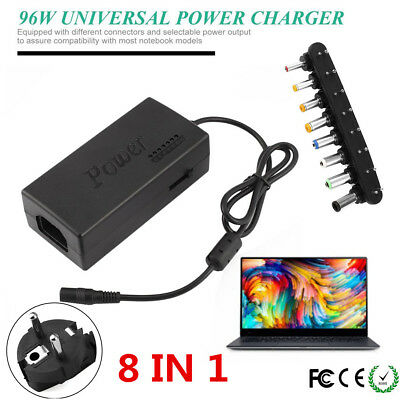 110V/240V 96W Universal AC/DC Power Supply Adapter Netzteil für PC LCD monitor