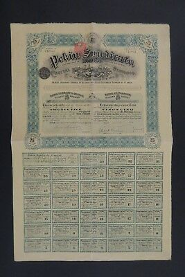 Pekin Syndicate Limited Share For 25 Shansi Shansi 1909 + All Coupons