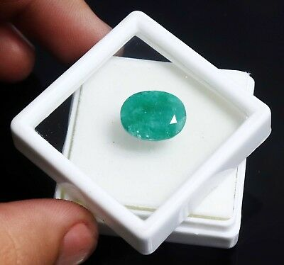 6.85 Ct Natural Colombian Green Emerald Glorious Oval Shape Loose Gemstone BN855
