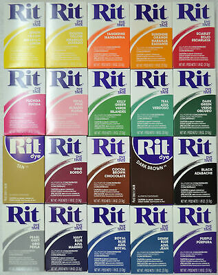 RIT ALL Purpose Powder Fabric Dye 31.9g, Tracked Post, Select Colours