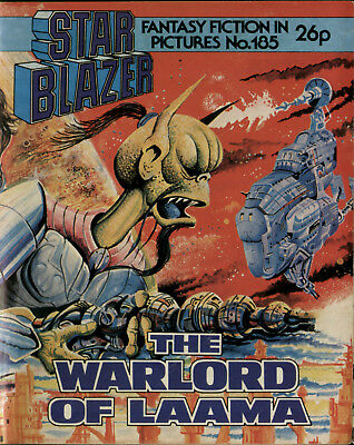 The Warlord Of Laama,starblazer Space Fiction Adventure In Pictures,no.185,1987