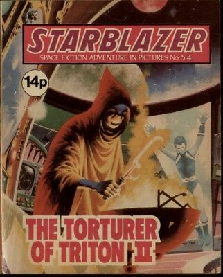 The Torturer Of Triton,starblazer Space Fiction Adventure In Pictures,no.54,1981