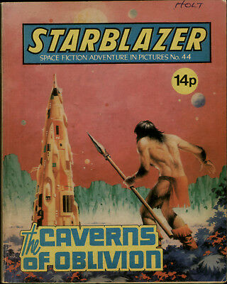 Caverns Of Oblivion,starblazer Space Fiction Adventure In Pictures,no.44,1981