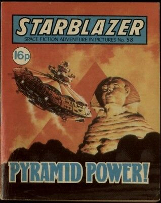 Pyramid Power ,starblazer Space Fiction Adventure In Pictures,no.58,1981