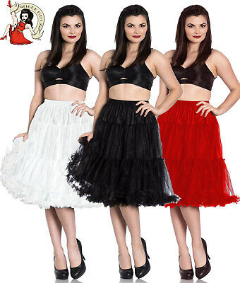 HELL BUNNY POLLY 50s style rockabilly jive LONG RED WHITE BLACK PETTICOAT