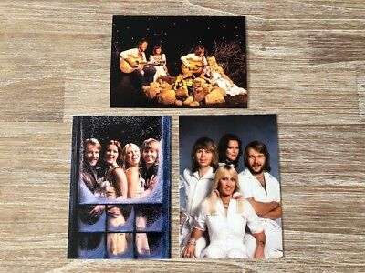 ABBA Set of 3 Official Swedish Postcards for The Official Photo Book