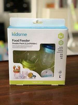 Kidsme Food Feeder Double Pack (Large) Lime Green and blue