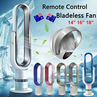 18'' Bladeless Fan Air Conditioner Remote Control AirFlow Cooling Home Office AU