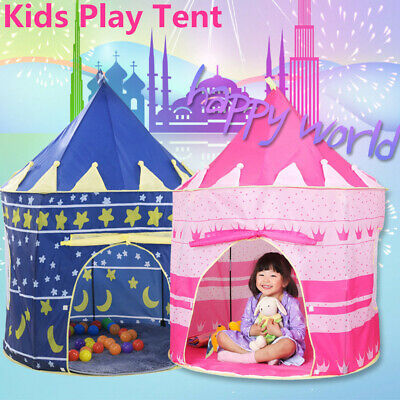 Kids Children Pop Up Play Tent Girls Boys Palace Castle Indoor Outdoor Playhouse