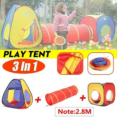 Ball Pit Kids Tent Playhouse with Tunnel Toddler Toys Children Ocean Play House