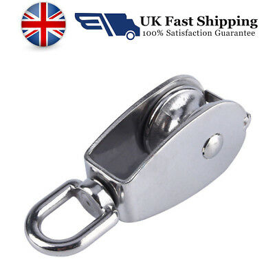 304 M15 Stainless Steel Lifting Rope Single Wheel Swivel Pulley Block Rigging