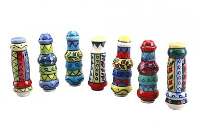 Colourful Ceramic Handpainted Mexican Style Light Blind Pull Toilet WC Bathroom