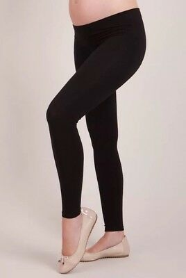 SERAPHINE BLACK BAMBOO ACTIVE UNDER BUMP MATERNITY LEGGINGS - M Medium RRP £29