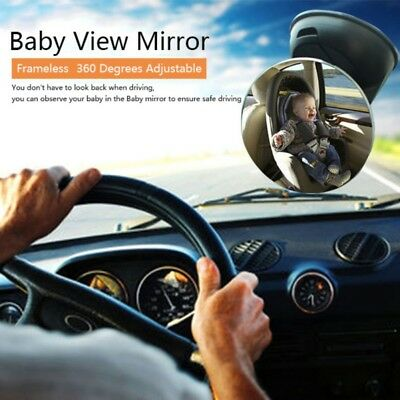 Baby Child Safety Mirror Car Back Seat Rear View Mirror Suction Cup Adjustable