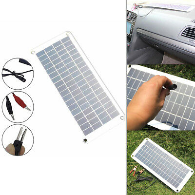 20W 12V Power Supply Car Solar Panel Trickle Battery Charger Boat Yacht Outdoor